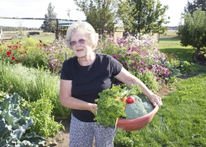 Shirley loves working in the garden!