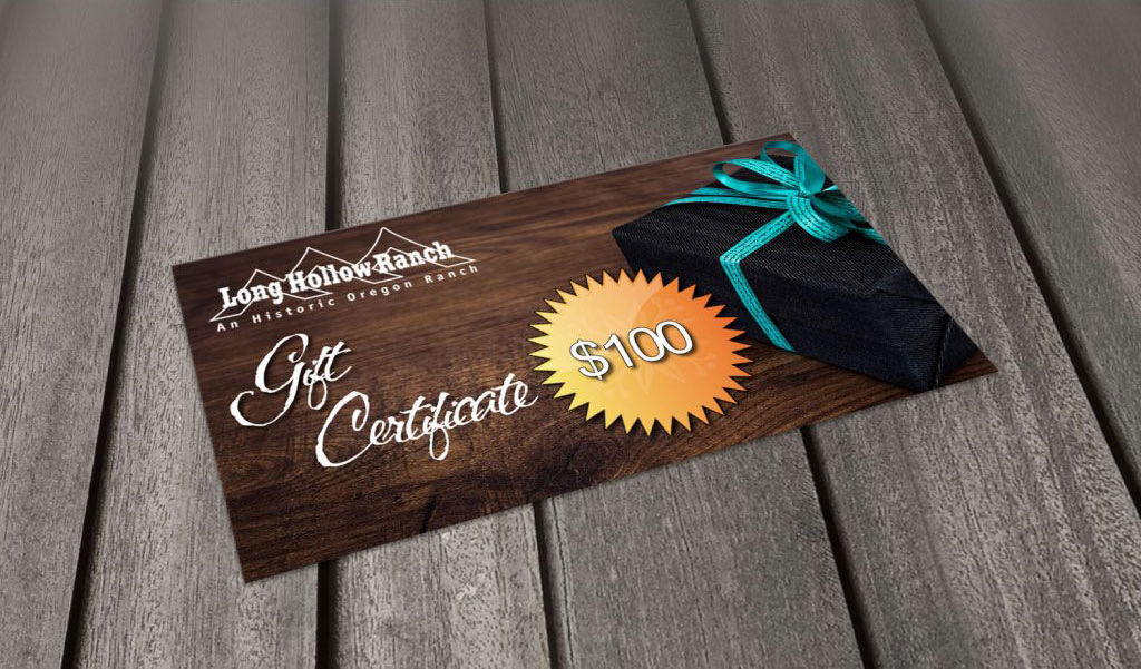 Gift Certificates - LHRANCH Dude Ranch Vacations